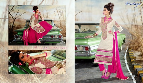 Fancy white Salwar kameez