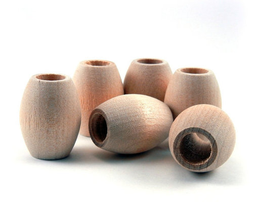 Oval Wooden Beads