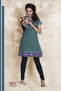Lime Cotton Kurtis