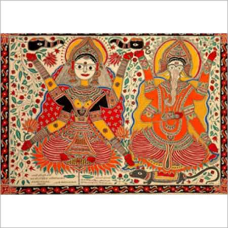 Auspicious Lakshmi Ganesha Diagram For Worship On Deepawali