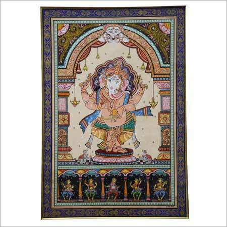 Traditional Indian Silk Painting