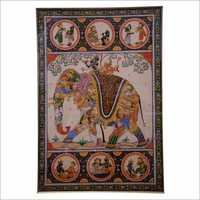 Antique Indian Silk Painting