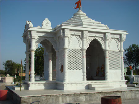 Handcrafted White Marble Temples