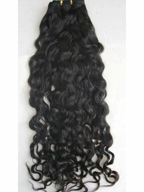 Non Remy Curly Weft Human Hair