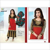 Red black Anarkali