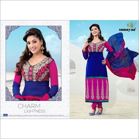 Blue Pink Anarkali