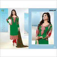 Green Designer Anarkali