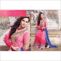 Pink Neck Designer Anarkali