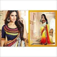 Tri colour sarees