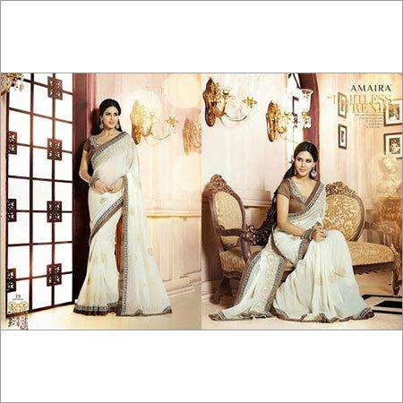 Pure White sarees