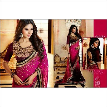 Pink Designer Sarees