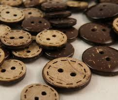 Coconut Shell Lasor Buttons