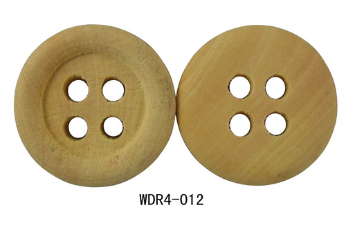 Yellow Wooden Ring Button 4 Hole