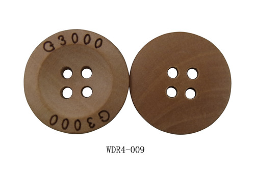 Wooden Buttons with Logo Engraved