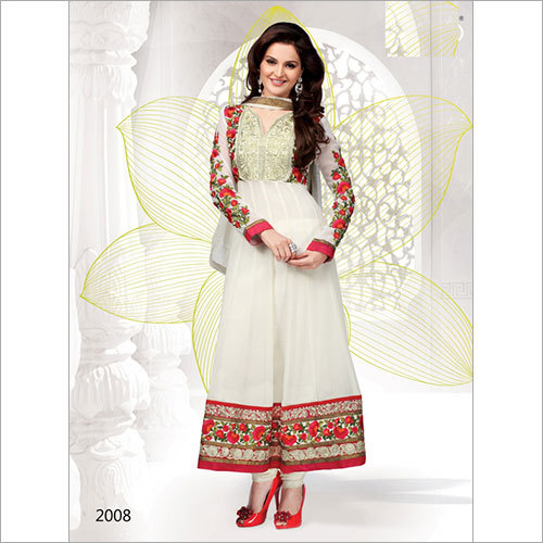 White Color Anarkali -2008