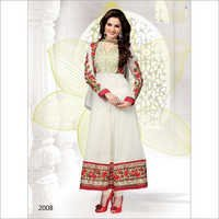 White Color Anarkali -2008