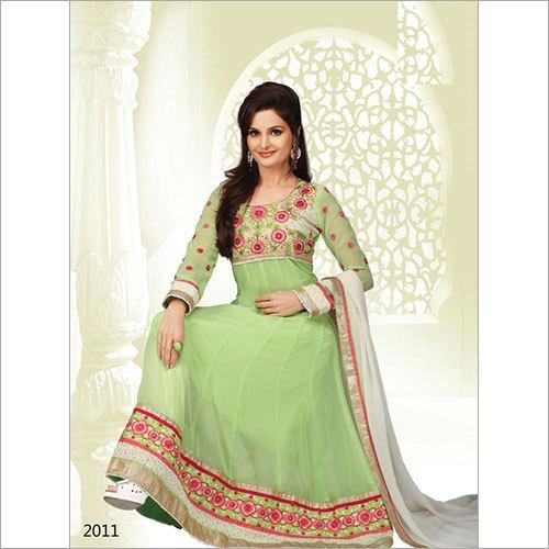 Green Color Anarkali Suit 2011