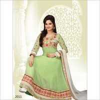 Green Color Anarkali Suit 2011