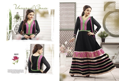 Black Color Anarkali Suit -18009