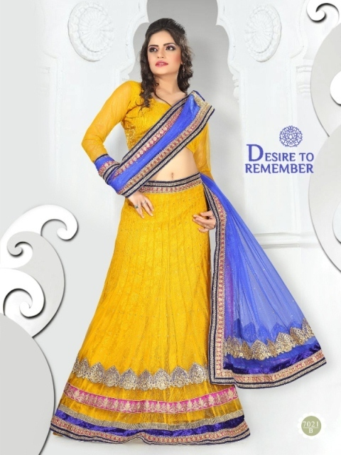 Yellow Color Lehenga 7021-B