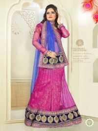 Pink With Blue Color 7022-B