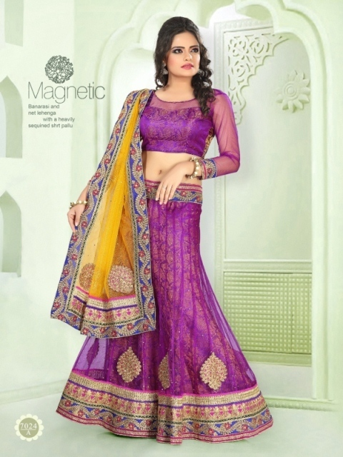 Lehenga With Pink Color 7024-A