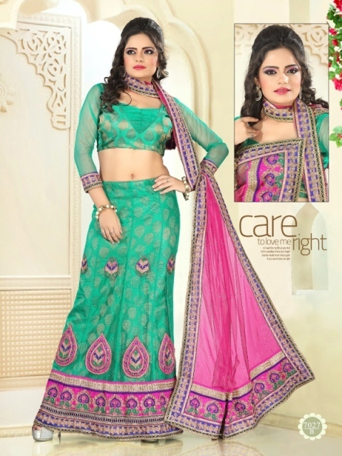 Green Color Lehenga