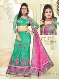 Green Color Lehenga 7027-B