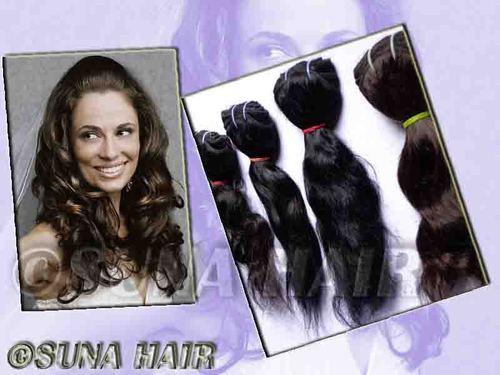 Natural raw silky curly hair weaving human hair extension
