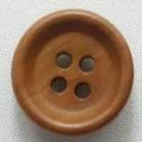 Brown Wooden Ring Button