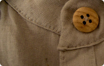 Wood Buttons on Shirts