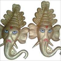 Ganesha Head Fiber Statue
