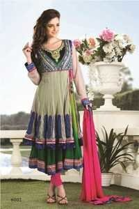 Stylish fancy desinger anarkali suit