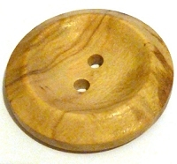 Natural Wood Button 25MM