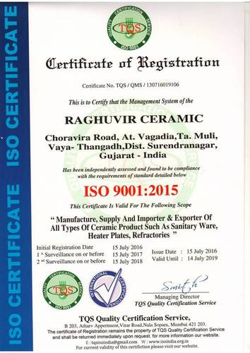 Santriware ISO Certificate