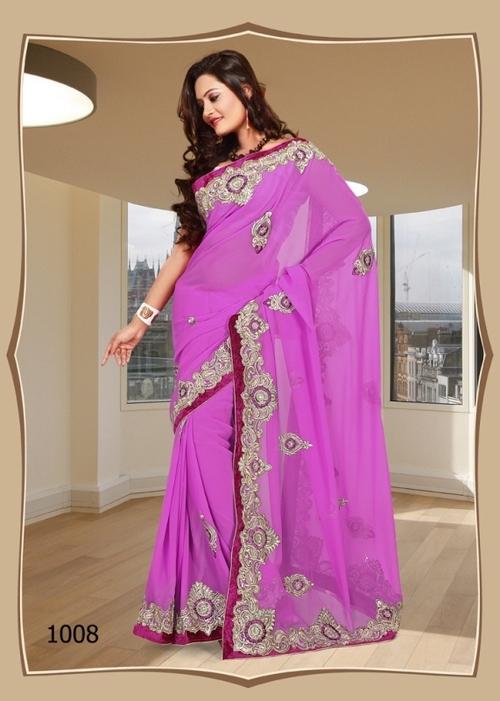 1008-Pink Saree Awesome