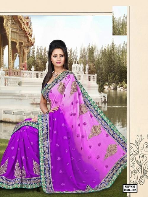 2065-Pink Color saree