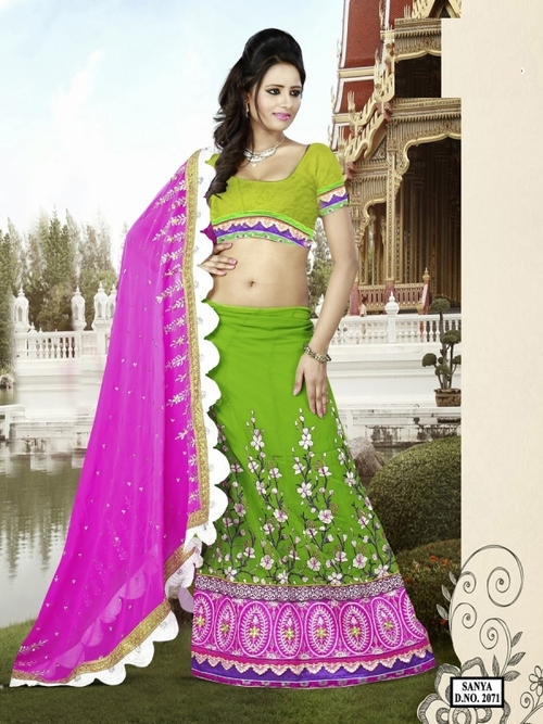 Green With Pink Awesome Color -2071