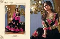 Black Anarkali Color -7004