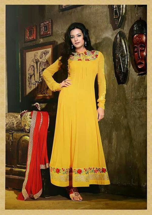 Orange Suit Anarkali -4