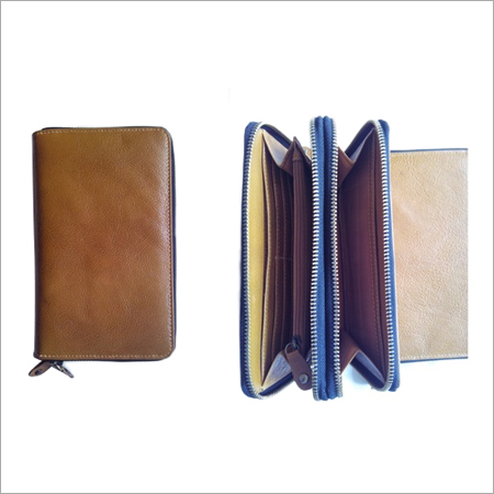 Crunch-leather Wallets