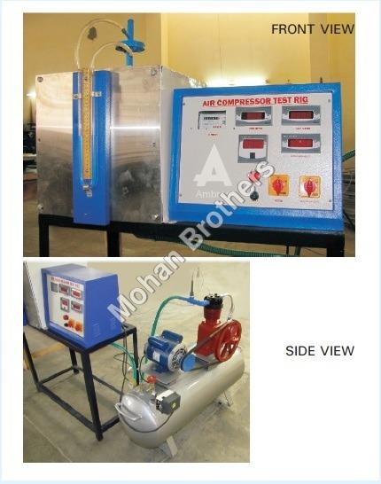Single Stage Air Compressor Test Rig