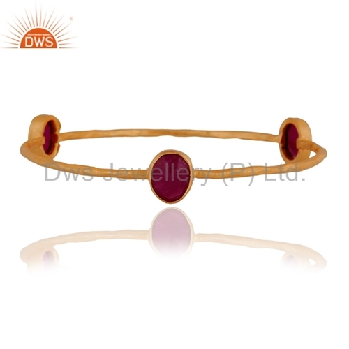 Gemstone Gold Plated Designer Bangle