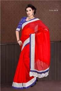 Red Color Saree 811-B