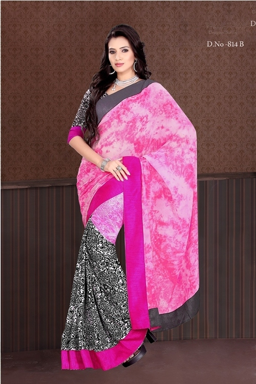 814-B Pink With Black Color
