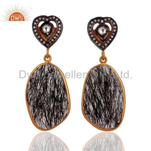Gemstone CZ Gemstone Womens Earring