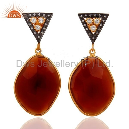 Red Onyx Fashion Earrings
