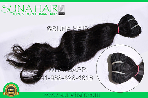 Unporcessed silky curly indian short size remy natural human hair