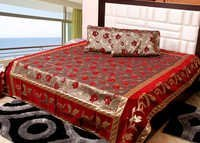Bhavya Red Colour Bedsheets
