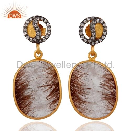 Rutile Quartz Gemstone Earrings